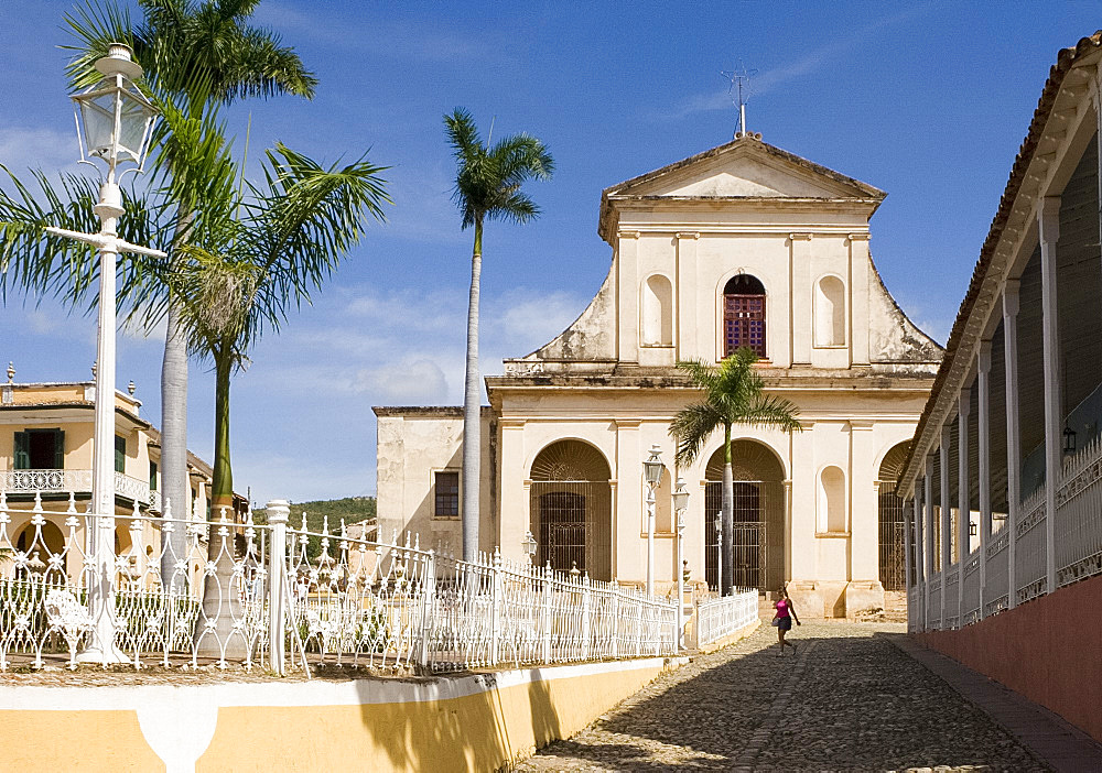 The Iglesia Parroquial de la Santisima Trinidad (Holy Trinity Church), Plaza Mayor, Trinidad, UNESCO World Heritage site, Cuba, West Indies, Central America