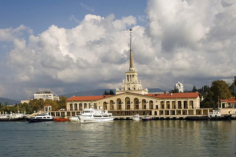 The Sea Terminal in the port of Sochi, Russia, Europe