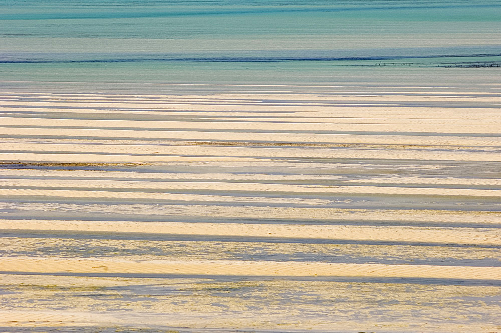 The sea at low tide, Paje, Zanzibar, Tanzania, East Africa, Africa