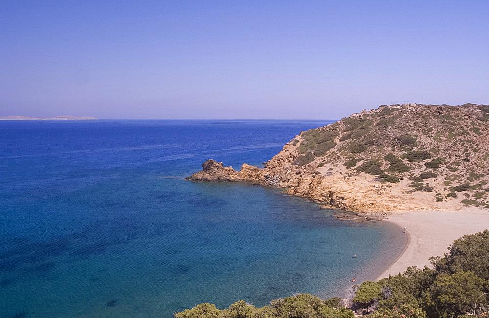 A view of the sea near Vai in Eastern Crete, Greek Islands, Greece, Europe