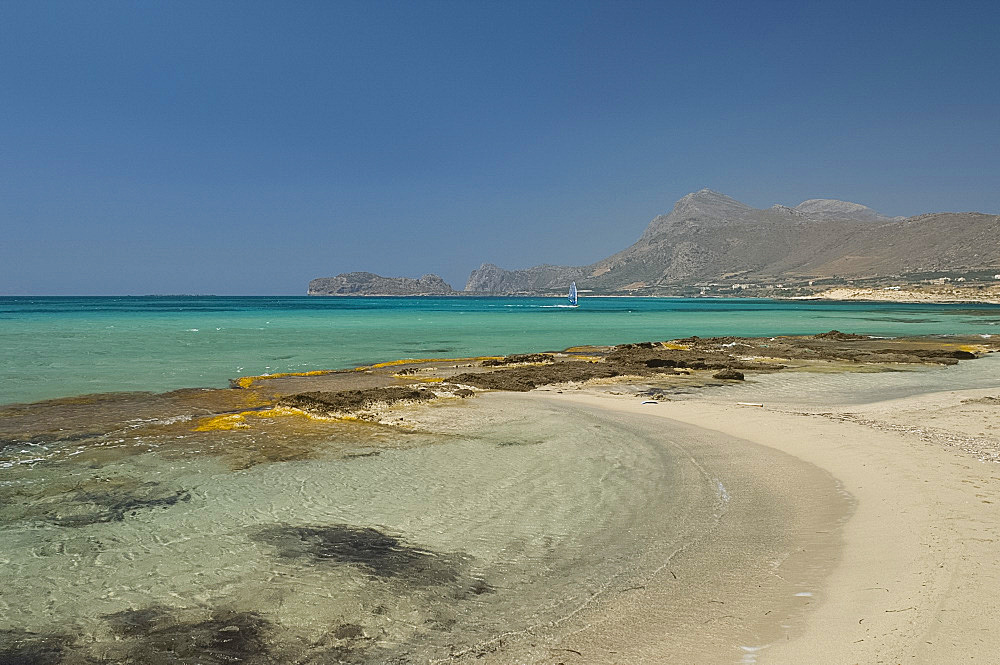 Beach, Crete, Greek Islands, Greece, Europe