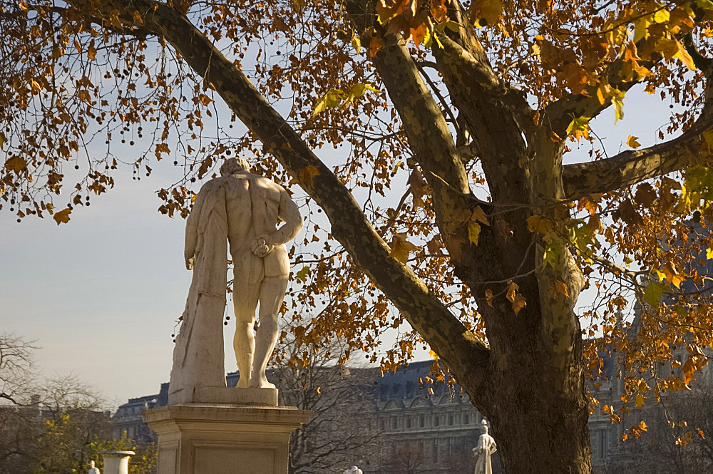 A marble statue of a nude in the Tuileries Gardens, Paris, France, Europe