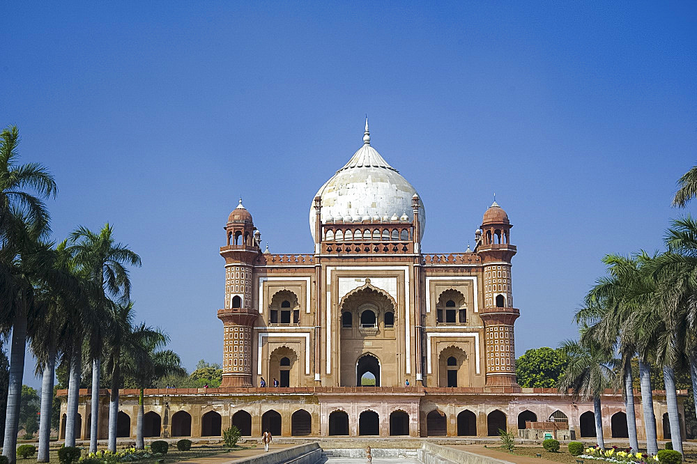 The ornate facade of Safarang's Tomb in New Delhi, India, Asia