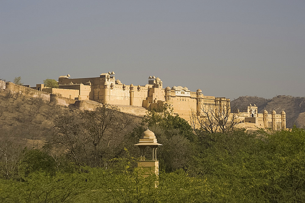 The Amber Fort in Jaipur, Rajasthan, India, Asia