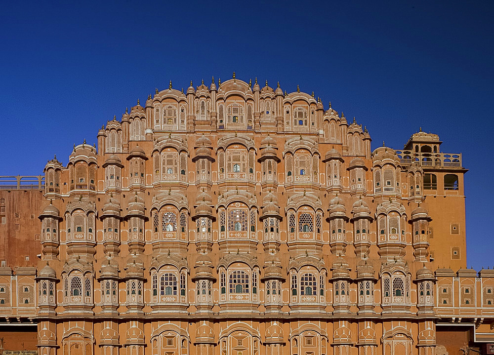 The Hawa Mahal (Palace of the Winds), Jaipur, Rajasthan, India, Asia