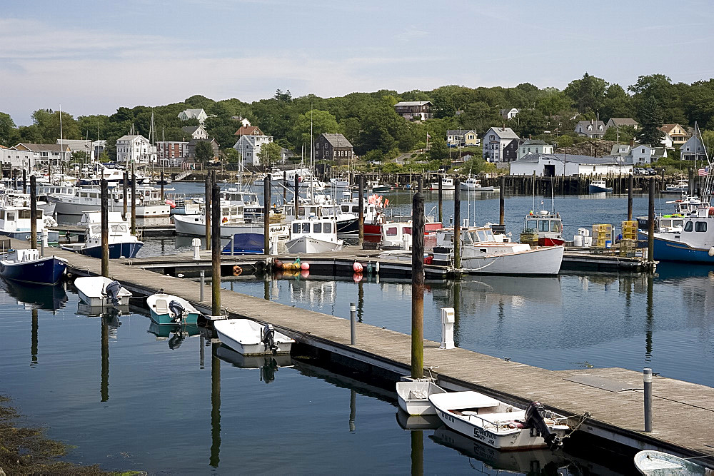Fishing boats in the harbour in Gloucester, Massachussetts, New England, United States of America, North America