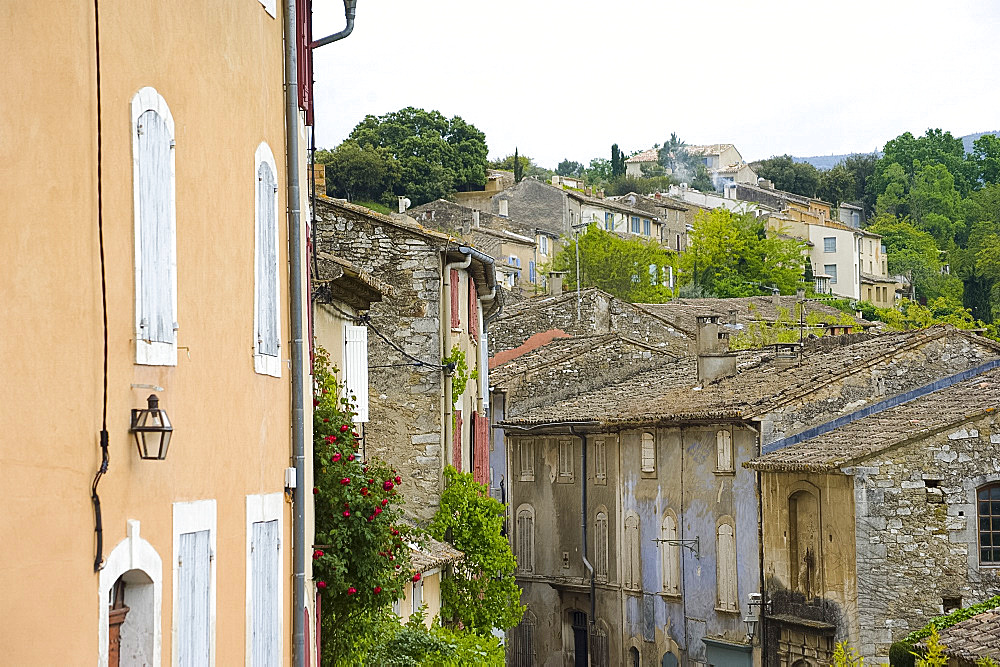 Traditional old stone houses in Menerbes, Provence, France, Europe