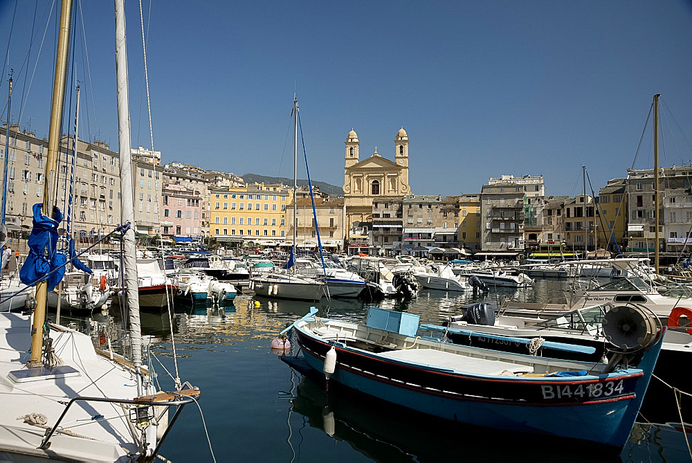 The old harbour in Bastia in northern Corsica, France, Mediterranean, Europe