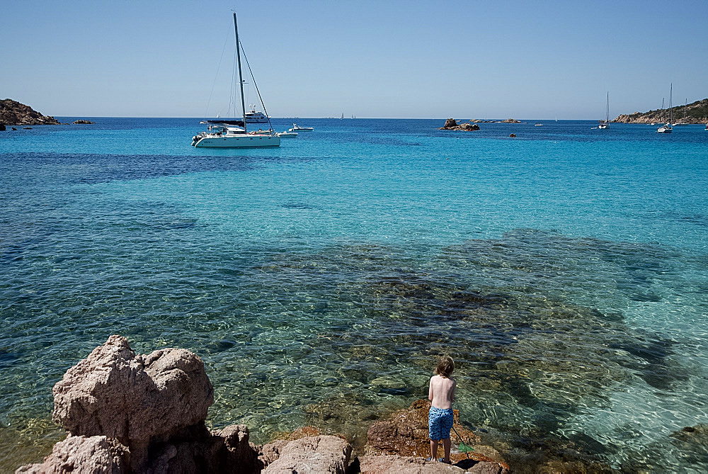 Roccapina Beach in the Gulf of Roccapina in the Sartenais region in southwest Corsica, France, Mediterranean, Europe