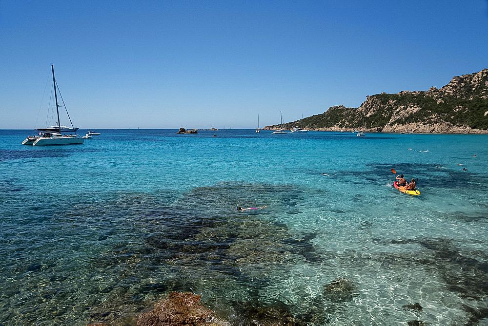 Roccapina Beach in the Gulf of Roccapina in the Sartenais region in southwest Corsica, France, Mediterranean, Europe