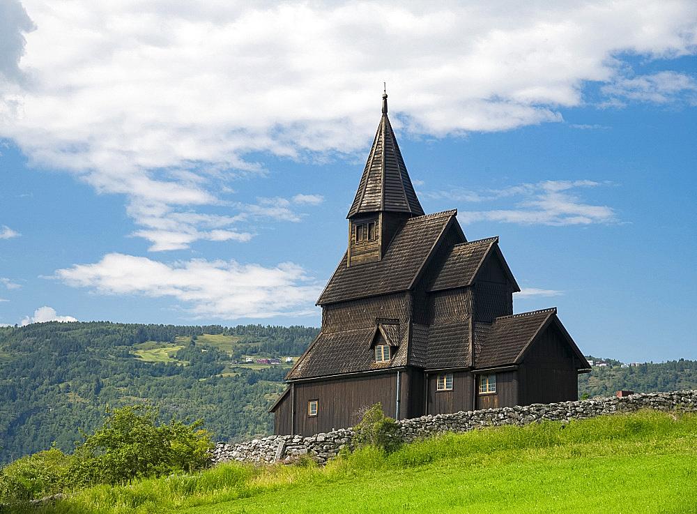 The Urnes Stave Church in Urnes, UNESCO World Heritage Site, on Sogne Fjord, Vestlandet, Norway, Scandinavia, Europe