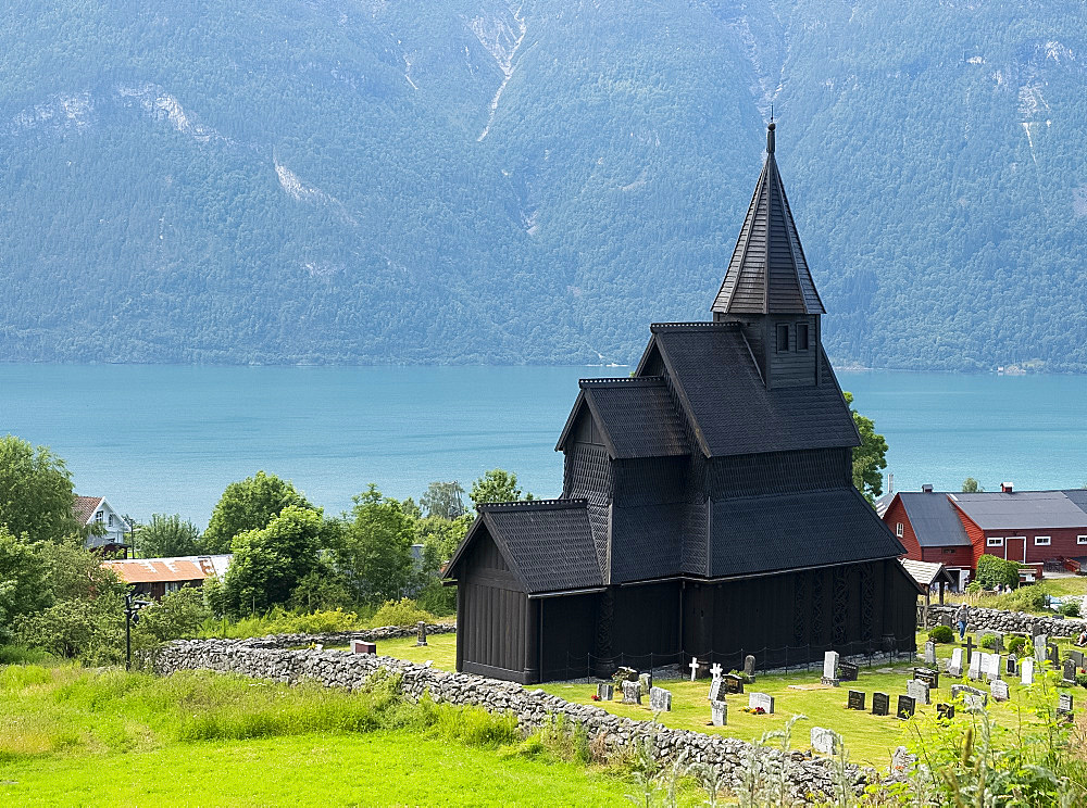 The Stave Church in Urnes, UNESCO World Heritage Site, Sognefjord, Norway, Scandinavia, Europe