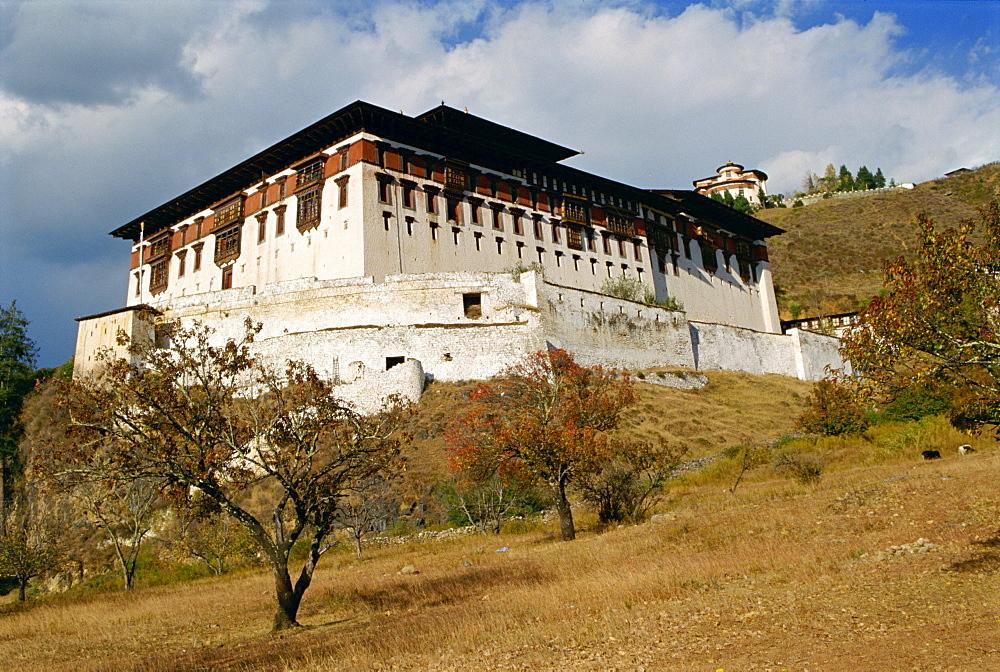 The Dzong (monastery) at Paru in Bhutan, Asia