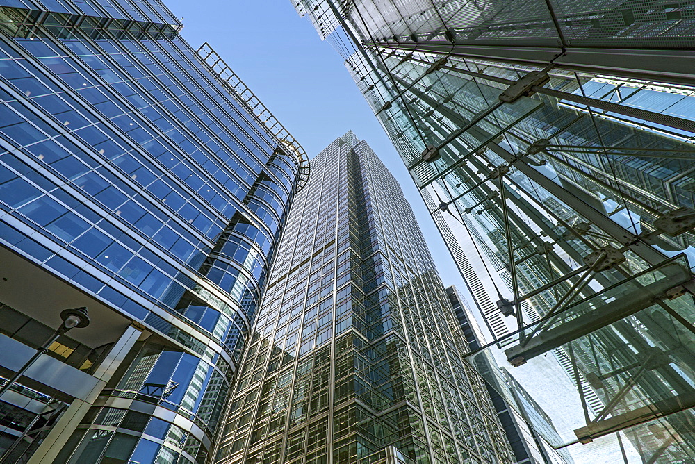 20 Canada Square McGraw Hill building, Citibank Tower and Canada Place Shopping Centre, Docklands, London, England, United Kingdom, Europe - 190-9840