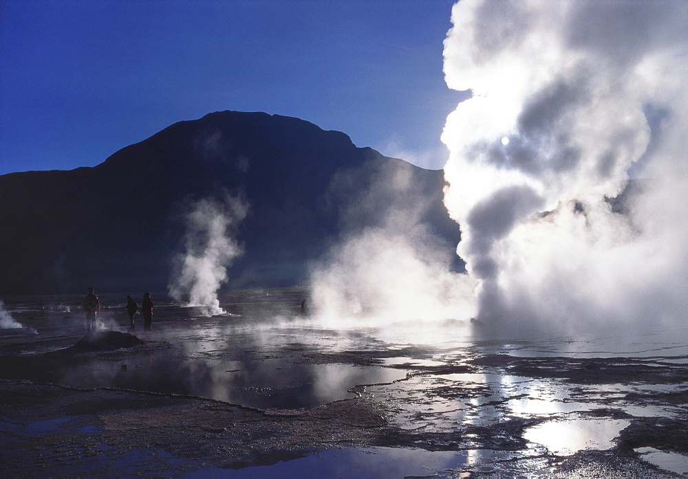 Steam Rising From Geysers and Fumaroles, El Tatio, Atacama, Chile - 197-4126
