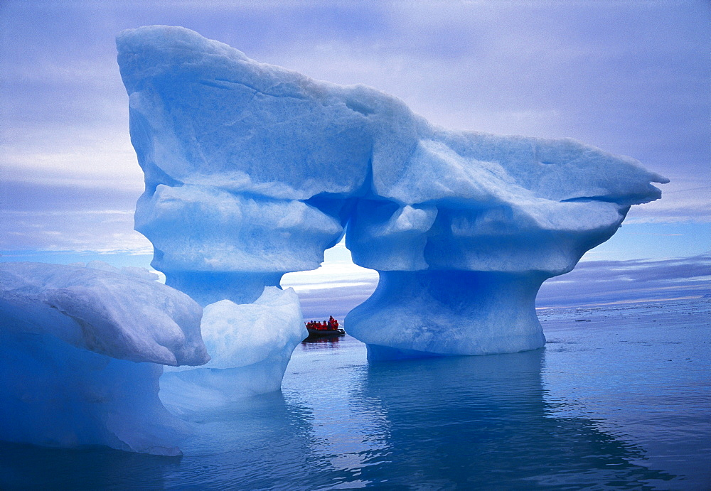 Sculpted Iceberg, Spitsbergen, Svalbard Archipelago, Norway, Scandinavia, Europe - 197-5220