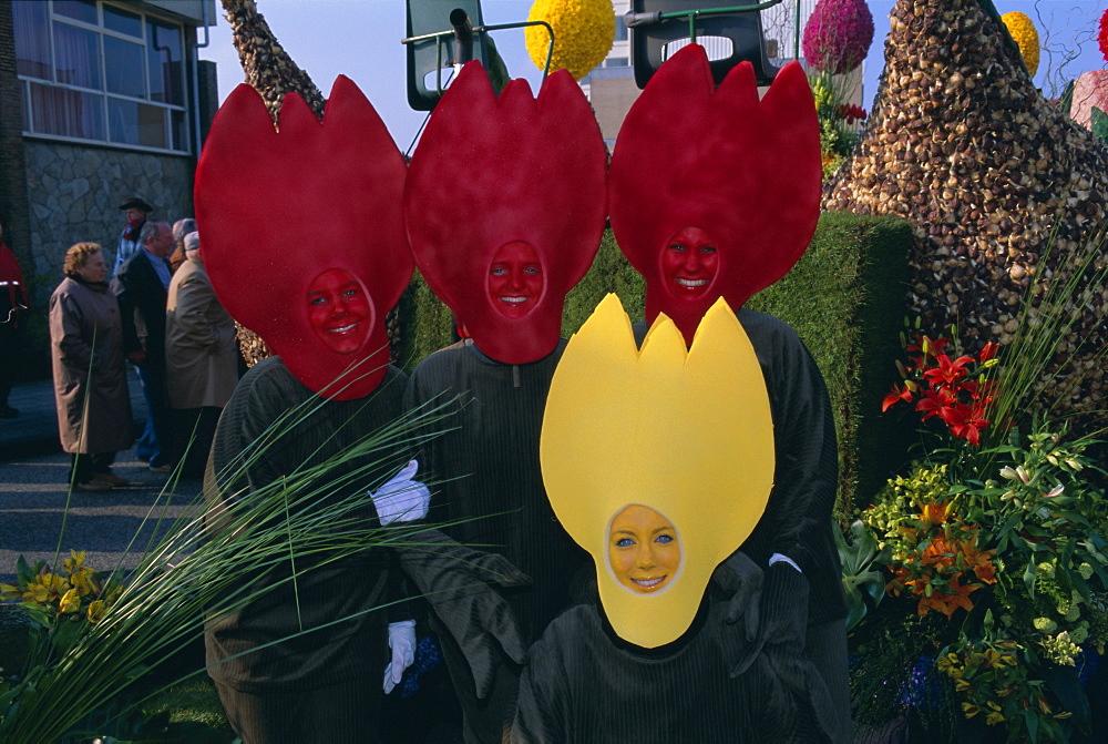 Flower Train Parade, Noordwijk, Holland (The Netherlands), Europe