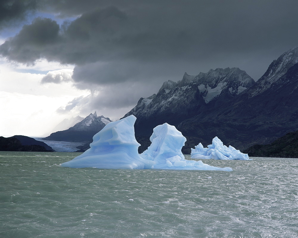 Ice in Lago Grey, Torres del Paine National Park, Patagonia, Chile, South America