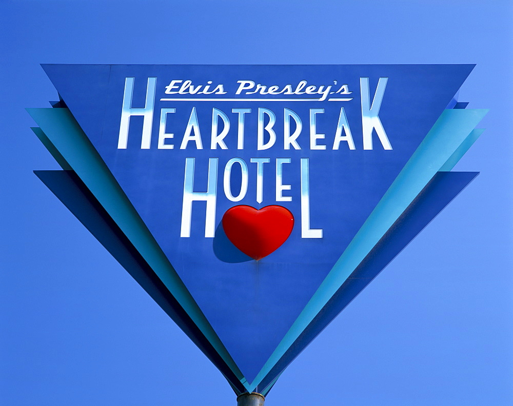 Elvis Presley's Heartbreak Hotel sign, Memphis, Tennessee, United States of America, North America - 252-10768