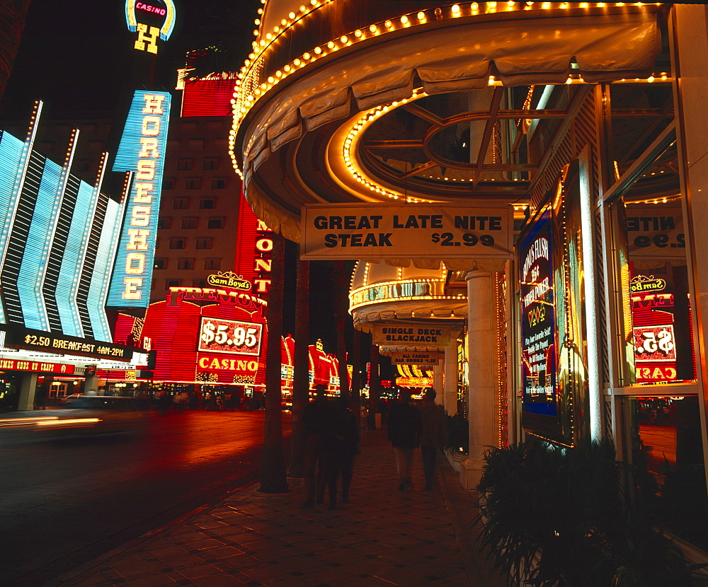 Fremont Street, Las Vegas, Nevada, United States of America, North America