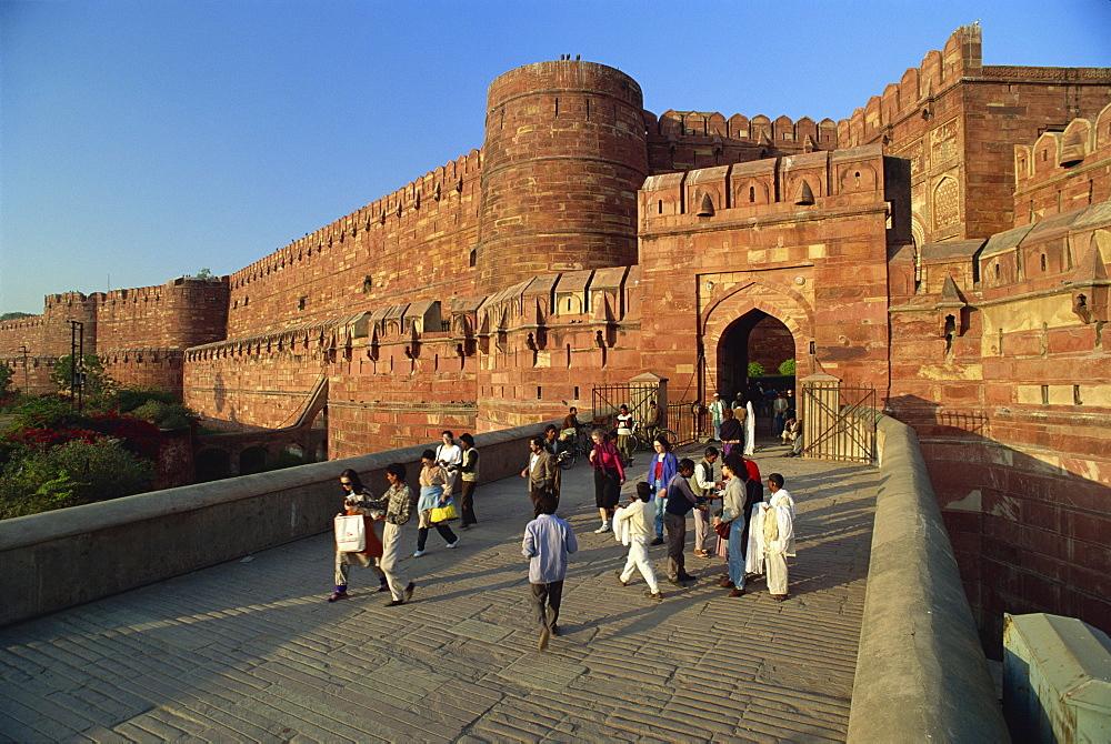 Red Fort, UNESCO World Heritage Site, Agra, Uttar Pradesh state, India, Asia