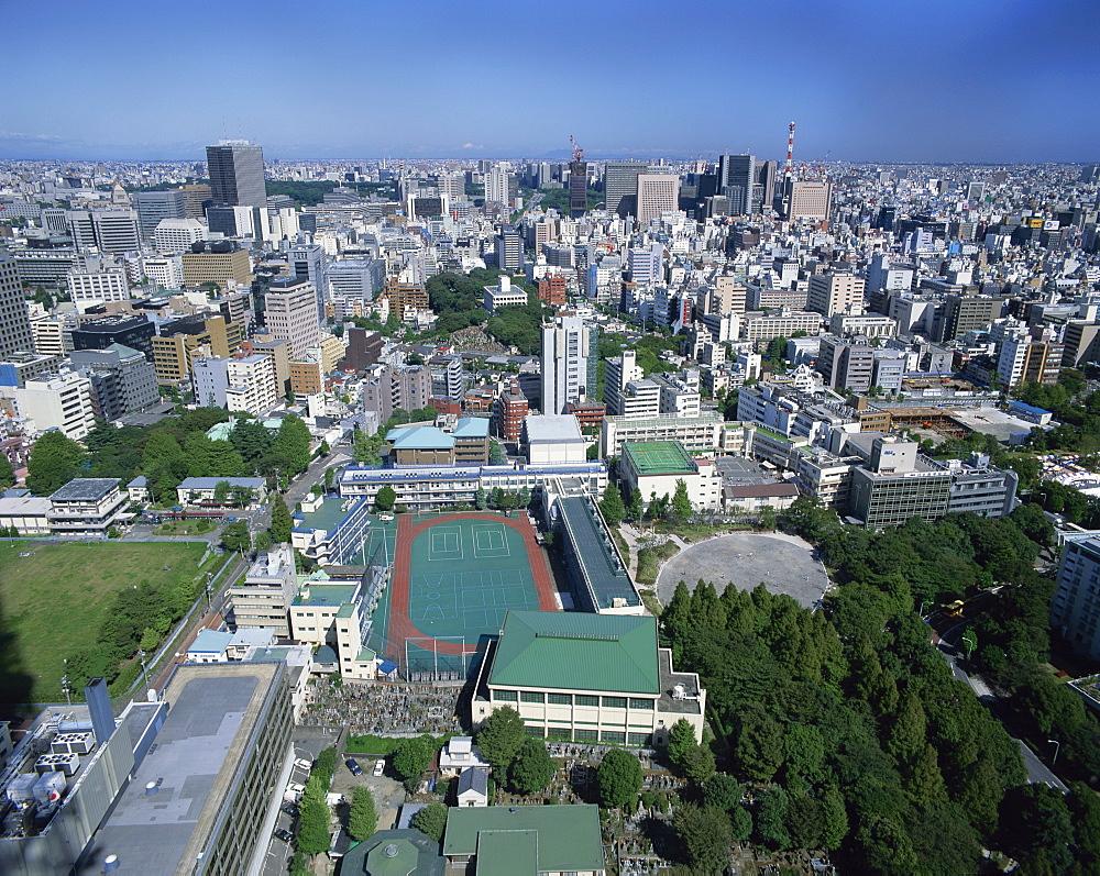 The skyline of Tokyo, Japan, Asia