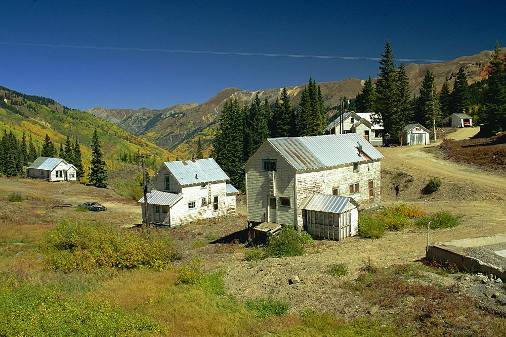 Old silver mines near Silverton, Colorado, United States of America, North America