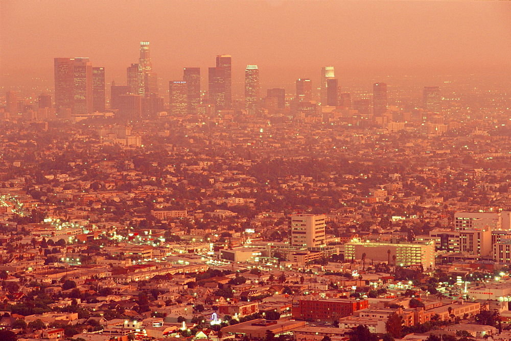 Downtown Los Angeles at dusk, California, USA - 252-2815