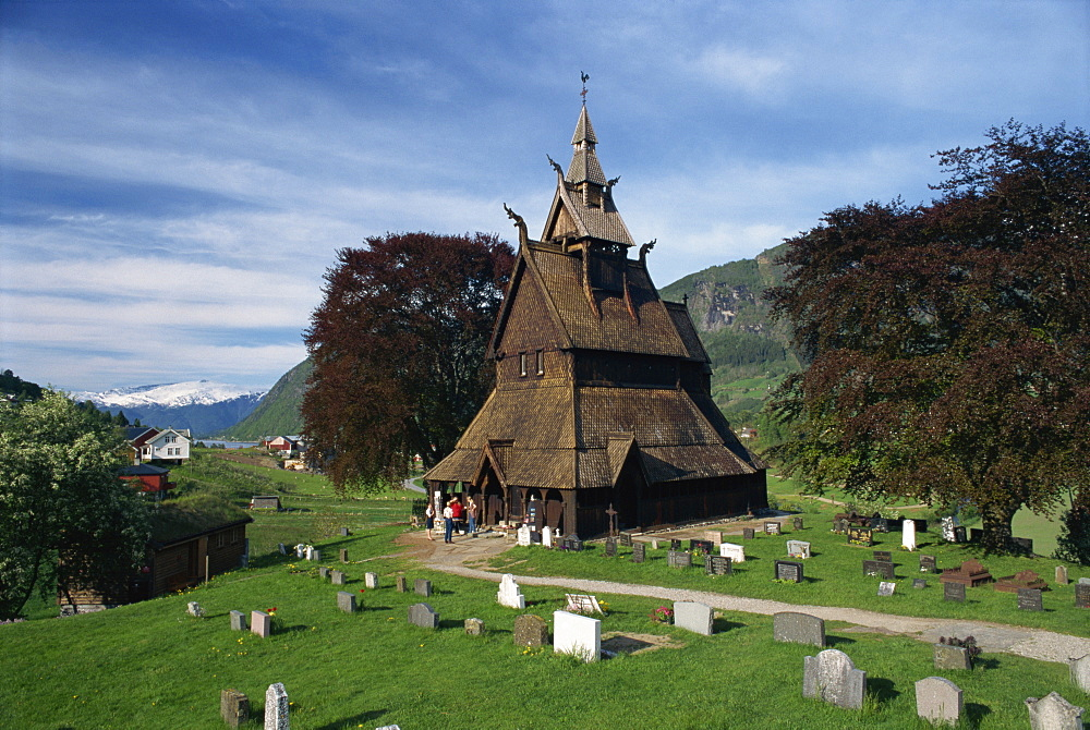 The Hopperstad Stave Church, built in 1150 AD, at Vik, Norway, Scandinavia, Europe