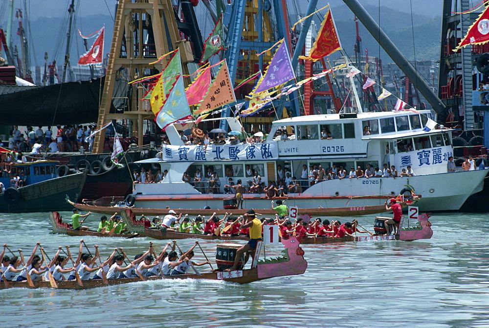 Annual boat races, Hong Kong, China, Asia