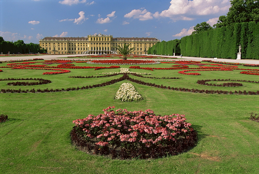 Schonbrunn Palace and Gardens, UNESCO World Heritage Site, Vienna, Austria
