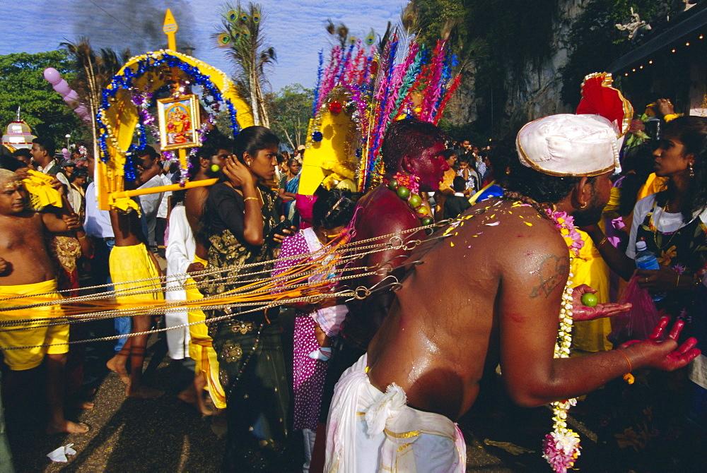 Annual Hindu festival of Thaipusam, Batu Caves, Kuala Lumpur, Malaysia