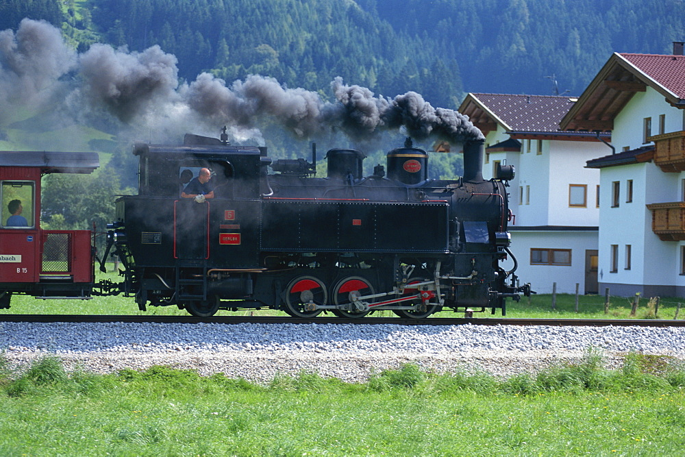 Steam train, Ziller Valley, The Tirol, Austria, Europe