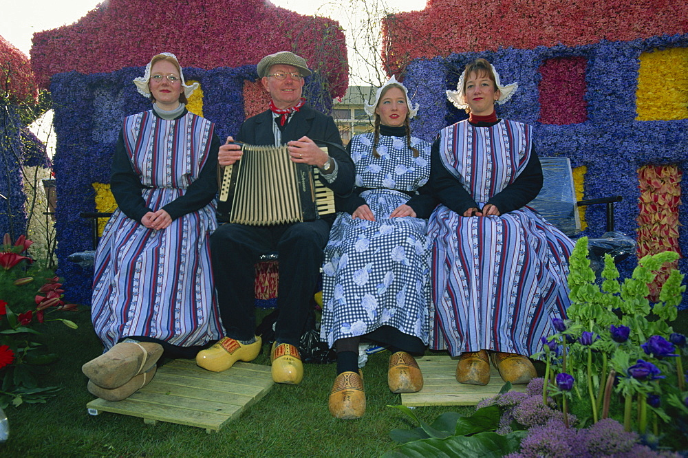 Flower Train festival, Noordwijk, Holland, Europe