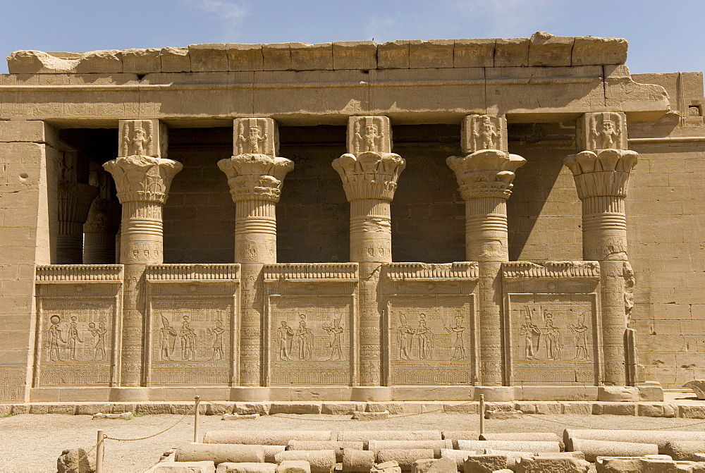 The Roman Mammisi, Dendera necropolis, Qena, Nile Valley, Egypt, North Africa, Africa