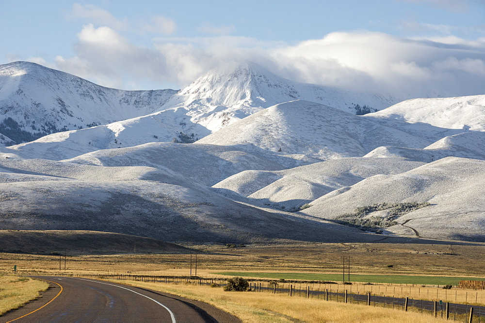 Bitterfoot Range, with the first snow of winter, South West Montana, United States of America, North America - 29-5437