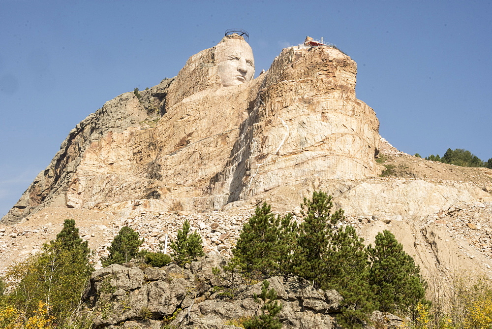 Crazy Horse Memorial granite carving, Black Hills of South Dakota - 29-5439