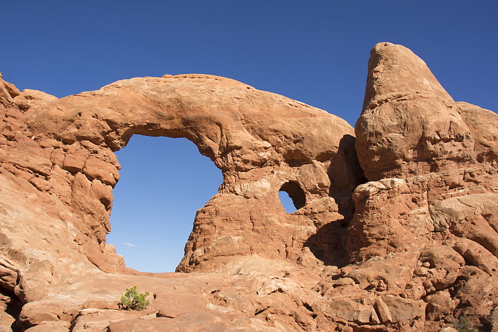 Turret Arch in Windows section of Arches National Park, Moab, Utah, United States of America, North America