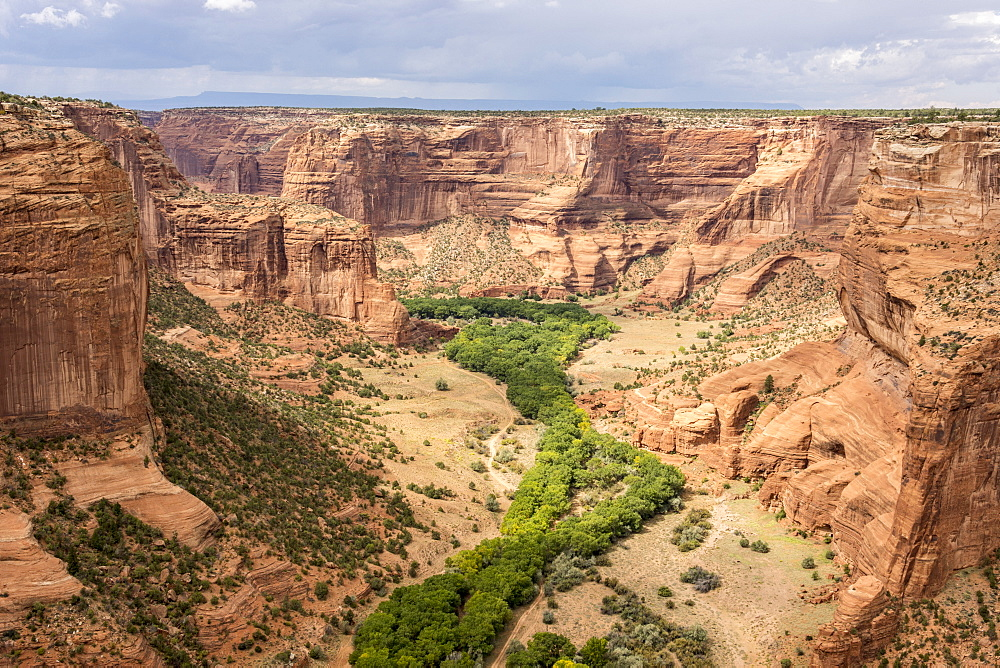 Junction Overlook, Canyon de Chelly National Monument, Arizona, United States of America, North America - 29-5454