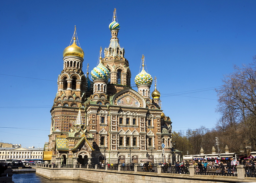 Church of our Saviour on Spilled Blood (Church of the Resurrection of Christ), UNESCO World Heritage Site, St. Petersburg, Russia, Europe - 29-5481