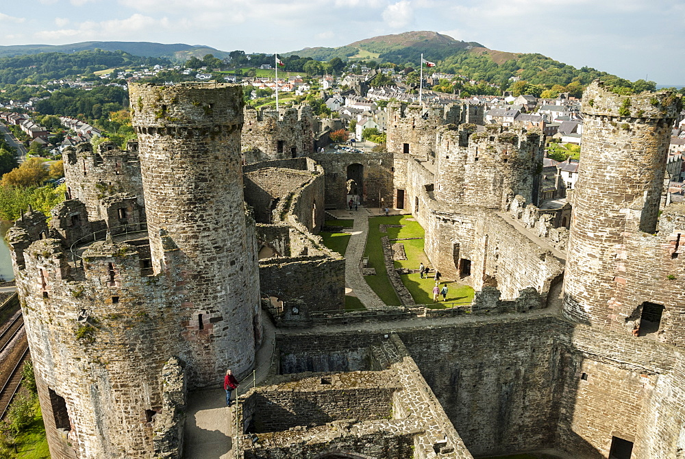 Conwy Castle, UNESCO World Heritage Site, Conwy (Conway), North Wales, United Kingdom, Europe - 29-5485