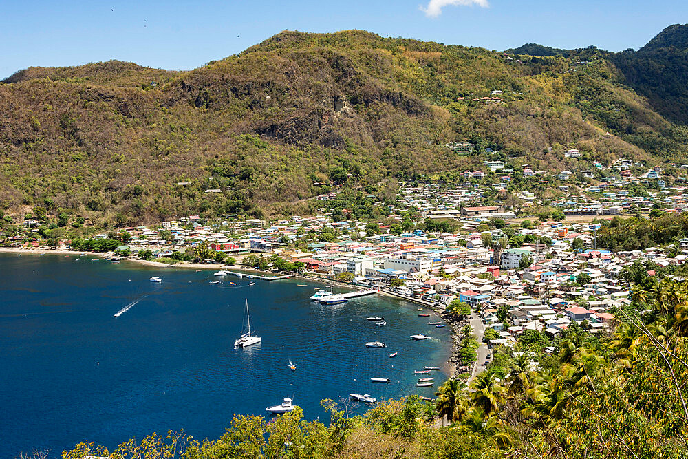 Town of Soufriere, Caribbean island of St. Lucia, Windward Islands, West Indies, Caribbean, Central America - 29-5558