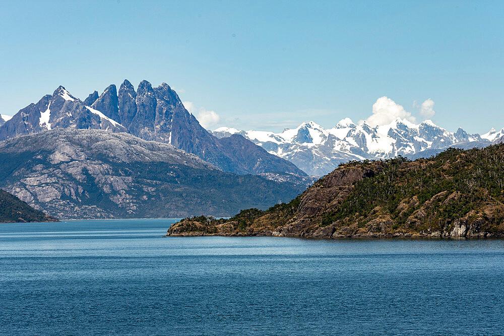 Amalia Fjord and Skua Glacier, Chilean Fjords, Chile, South America