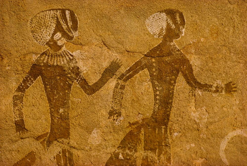 Tassili rock painting, Tanzoumaitak, Algeria, Africa