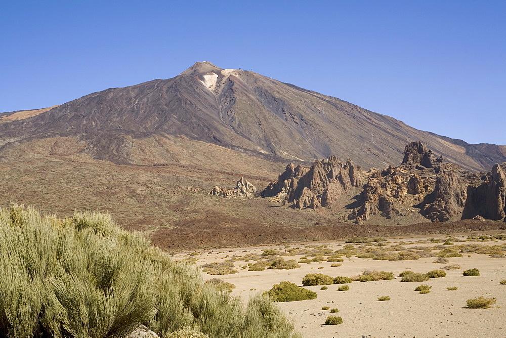Mount Teide from Llano de Ucanca, Tenerife, Canary Islands, Spain, Europe