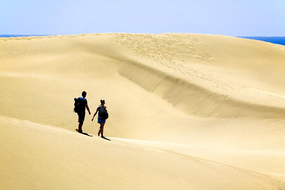 Maspalomas Sand dunes, Grand Canary, Canary Islands, Spain, Europe