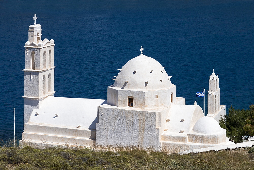 Agia Irini church, Gialos, Ios, Cyclades, Greek Islands, Greece, Europe - 306-4369