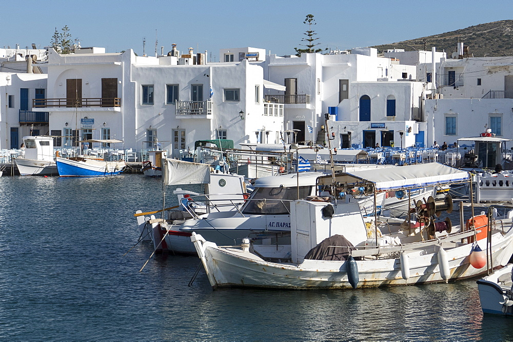 Naoussa harbour, Paros, Cyclades, Greek Islands, Greece, Europe - 306-4370