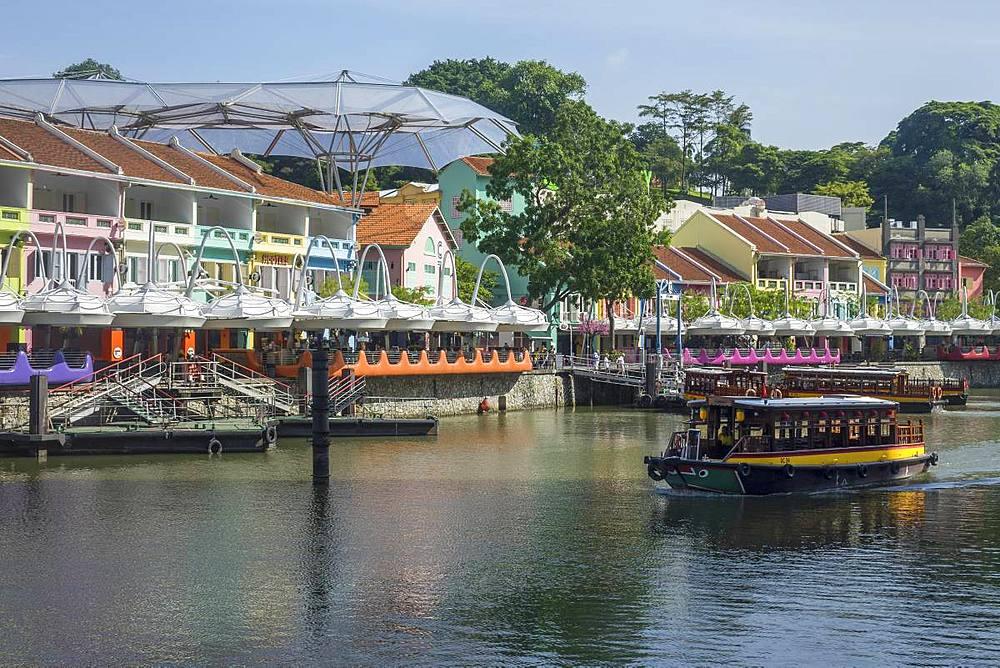 Clarke Quay, Singapore, Southeast Asia, Asia - 306-4455