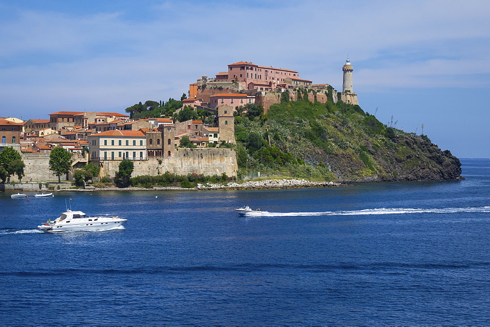 Forte Stella and Lighthouse, Portoferraio, Elba, Tuscan Islands, Italy, Europe - 306-4462